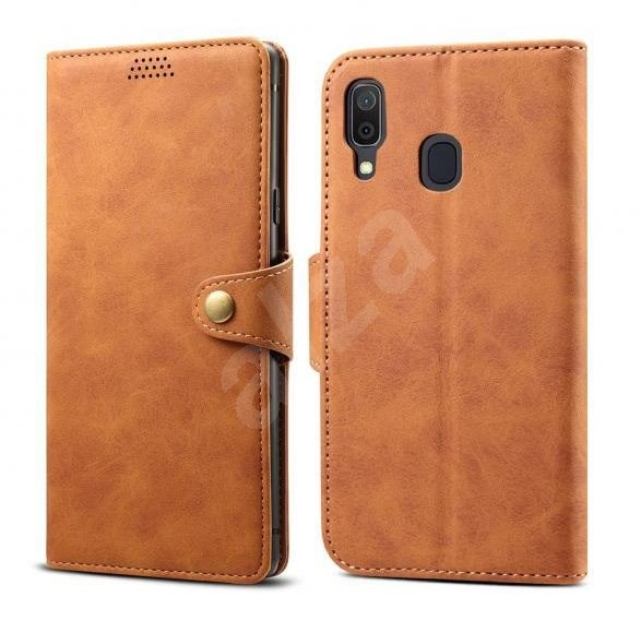 Lenuo Leather for Samsung Galaxy A40, Brown - Mobile Phone Case