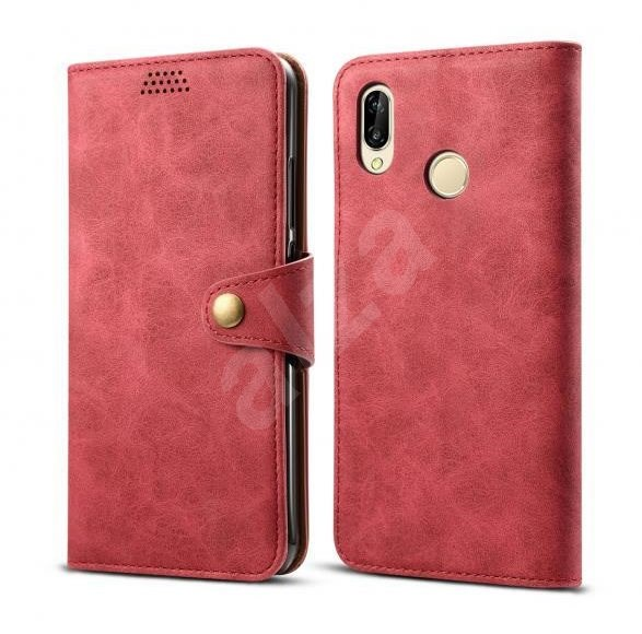 Lenuo Leather for Huawei P30 Lite/P30 Lite New Edition Red - Mobile Phone Case