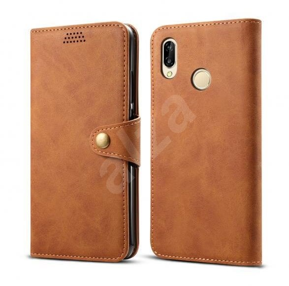 Lenuo Leather for Huawei P30 Lite/P30 Lite New Edition, Brown - Mobile Phone Case