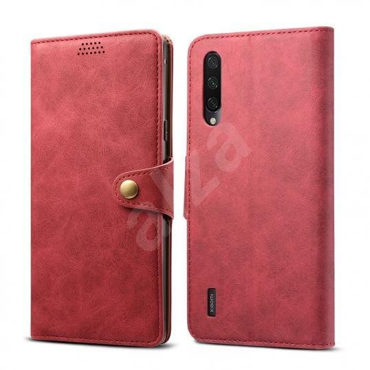 Lenuo Leather for Xiaomi Mi 9 Lite, Red - Mobile Phone Case