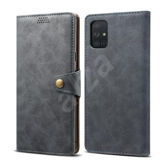 Lenuo Leather for Samsung Galaxy A71, Grey - Mobile Phone Case