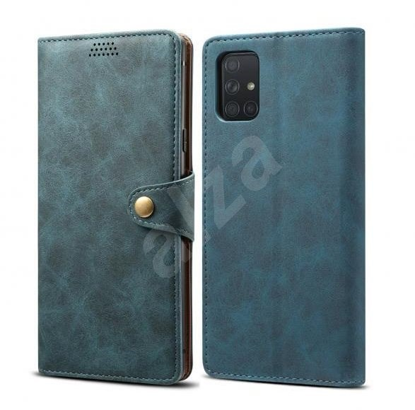 Lenuo Leather for Samsung Galaxy A71, Blue - Mobile Phone Case