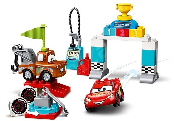Lego Duplo Cars Tm 10924 Lightning Mcqueen S Race Day Lego Building Kit Alzashop Com