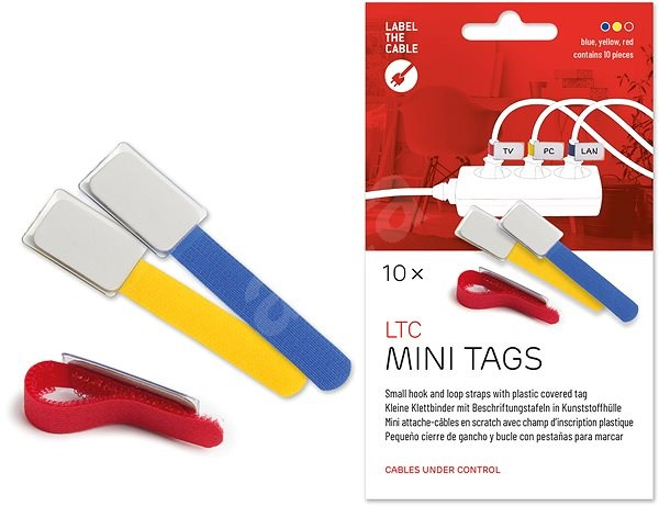 LABEL THE CABLE 2530 Mini MX, 10-pack - Cable Organiser