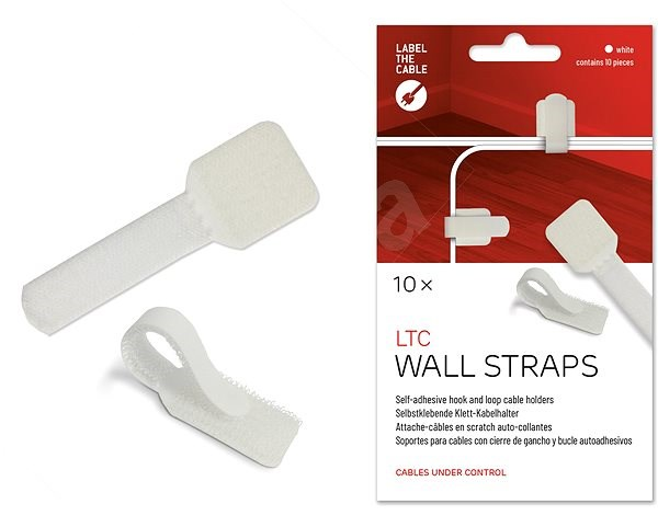 LABEL THE CABLE Wall Straps 3120 Wall WT, 10-pack - Cable Organiser