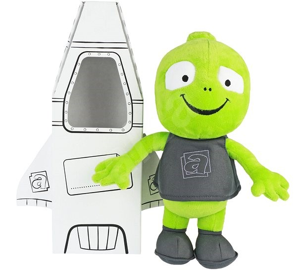 Plush Alien Alza II with a rocket - Plush Toy