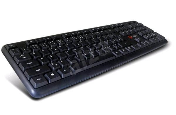 C-TECH KB-102 PS/2 slim black - Keyboard