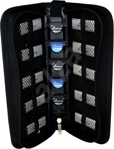 Mediarange BOX99 for flash drives and SD cards, black - Case