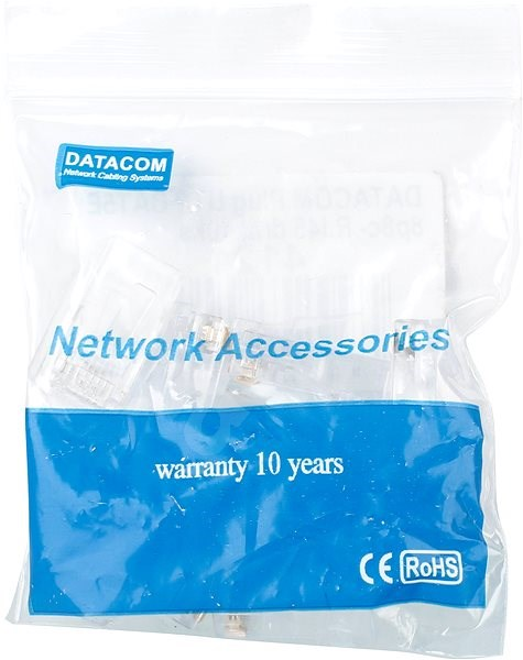Datacom, RJ45, CAT5E, UTP, 8p8c, for wires - Connector