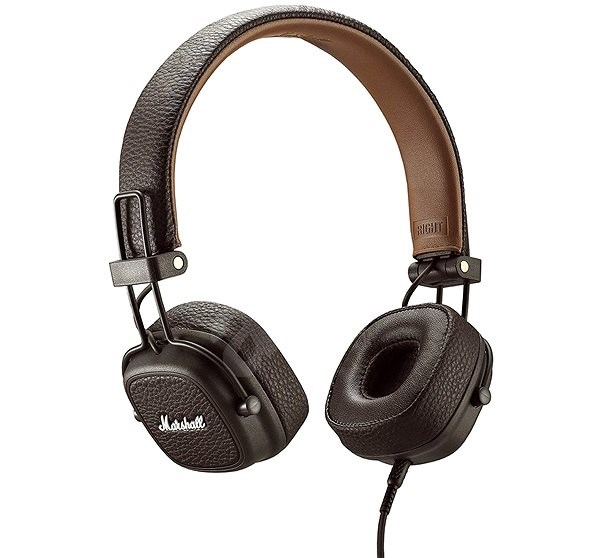 Marshall Major III brown - Headphones with Mic