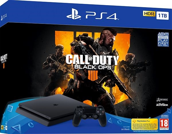 5c634f8b1 PlayStation 4 Slim 1 TB + Call of Duty  Black Ops 4 - Game Console ...