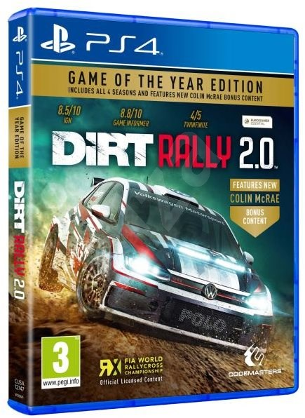 DiRT Rally 2.0 - Day 1 Edition - PS4 - Console Game