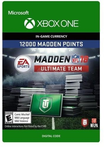 Madden NFL 18: MUT 12000 Madden Points Pack - Xbox One Digital - Gaming Accessory