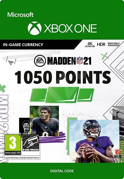 Madden NFL 21: 1050 Madden Points - Xbox One Digital - Gaming Accessory