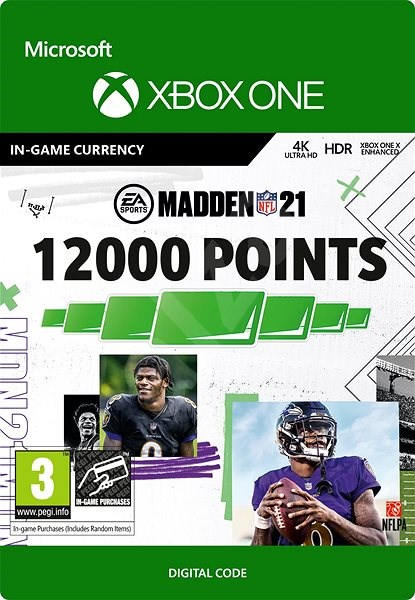 Madden NFL 21: 12000 Madden Points - Xbox One Digital - Gaming Accessory