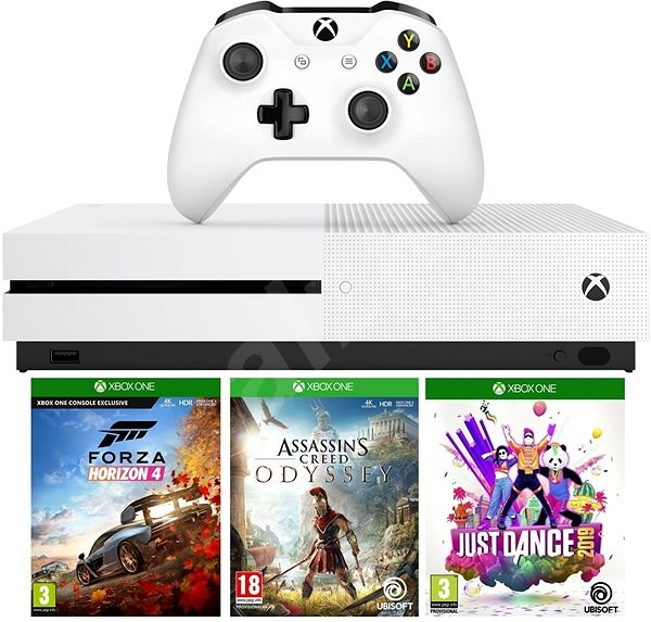 Xbox One S 1TB + Forza Horizon 4 + Assassin's Creed Odyssey + Just Dance  2019