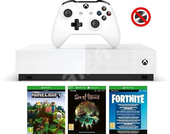 Xbox One 1TB All-Digital + 3 Games (Fortnite, Minecraft, Sea of Thieves) - Game Console