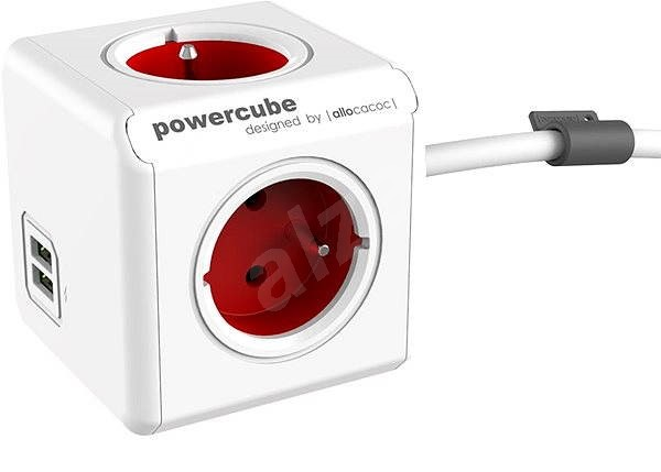 PowerCube Extended USB Red - Power Adapter