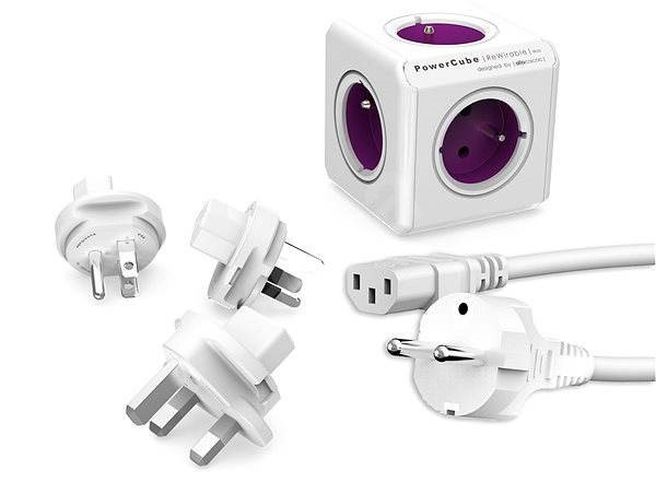 PowerCube rewirable Plugs + Travel + IEC cable - Power Adapter