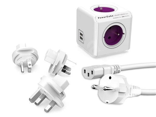 PowerCube USB + Travel Plugs + IEC Cable - Power Adapter