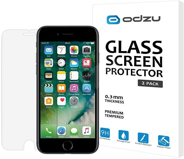Odzu Glass Screen Protector for iPhone 6s/7/8 - Glass protector