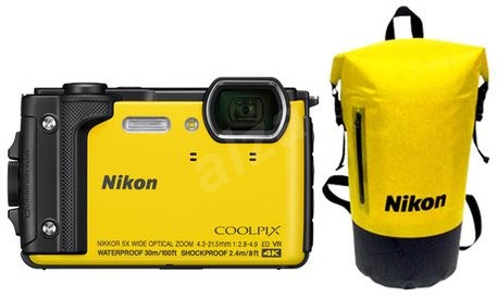 Nikon COOLPIX W300 Yellow Holiday Kit - Digital Camera
