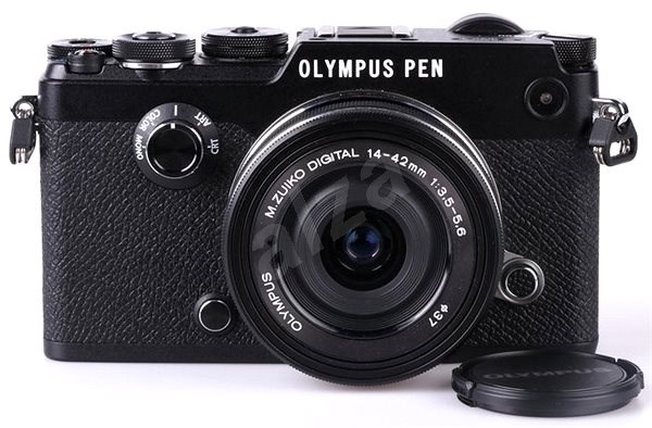 Olympus PEN-F Black + 14-42mm EZ - Digital Camera