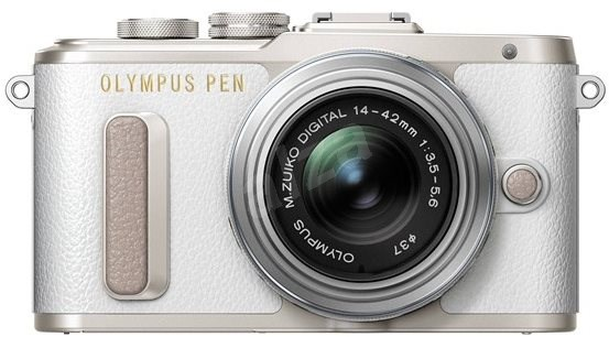 Olympus PEN E-PL8 - White + Lens ED 14-42 II R Silver - Digital Camera