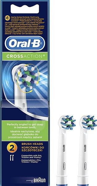 Oral B Replacement Toothbrush Heads Cross Action 2 Pcs - Replacement Head