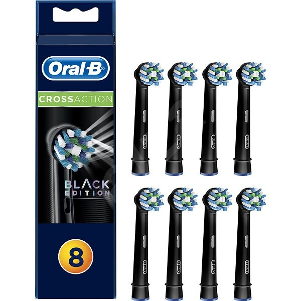 Oral-B replacement heads EB50 CrossAction Black 8-pack - Toothbrush Replacement Head