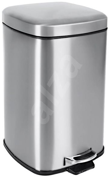 Stainless-steel/UH Waste Bin with Pedal 20l H - Waste Bin