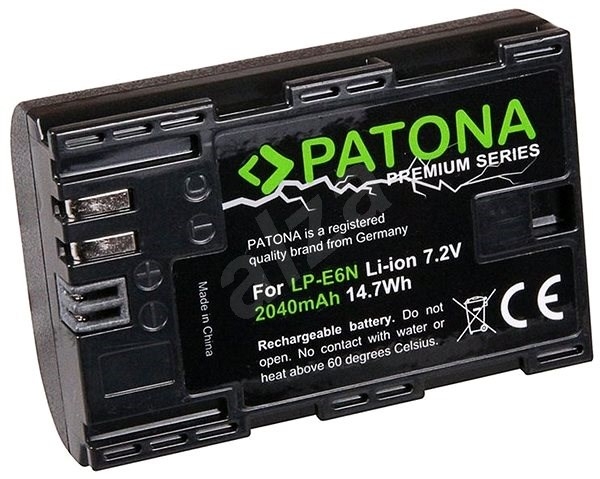 PATONA for Canon LP-E6N 2040mAh Li-Ion Premium - Camera Battery