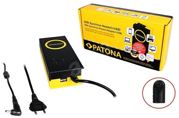 PATONA for laptops 19V/4.7A 90W/ 4x 1.35mm connectors/+ USB output - Adapter