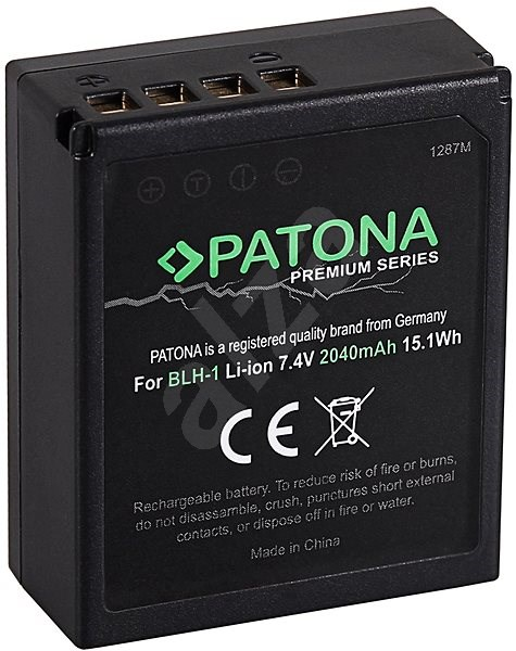 PATONA for Olympus BLH-1 2040mAh Li-Ion Premium - Camera Battery