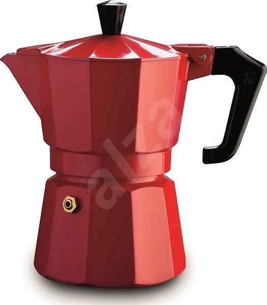 Pezzetti ItalExpress for 3 Cups, Red - Moka Pot