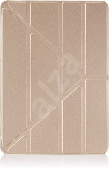 """Pipetto Transparent Origami for iPad 9.7 """"2017/2018 Gold - Tablet Case"""