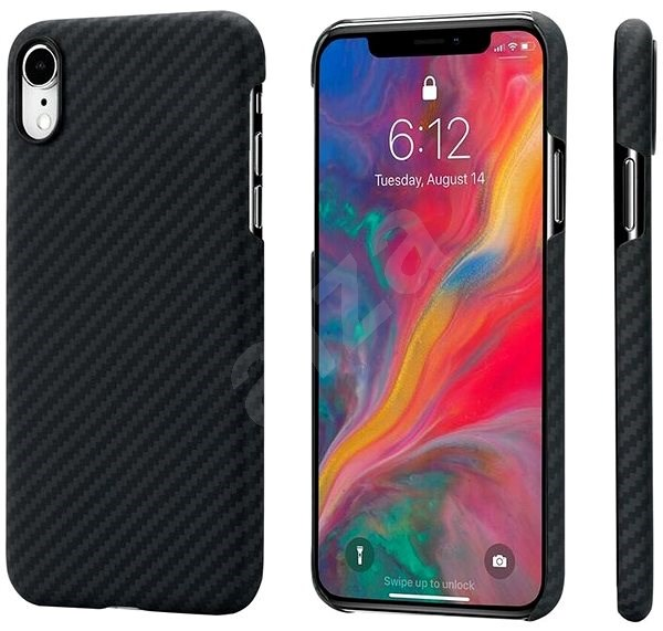 Pitaka Aramid Case Black / Gray iPhone XR - Mobile Case