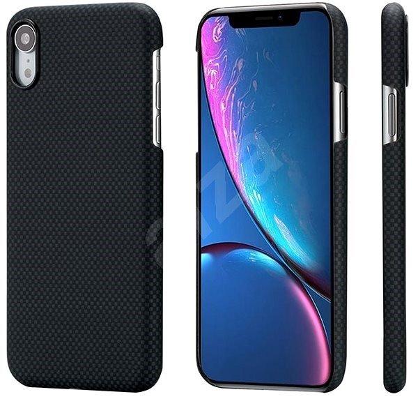 Pitaka Aramid Case Black/Grey Plain iPhone XR - Mobile Case