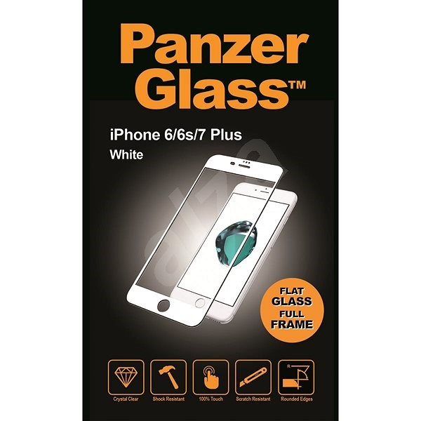 PanzerGlass Edge-to-Edge for Apple iPhone 6 / 6s / 7 Plus White (CaseFriendly) - Glass protector
