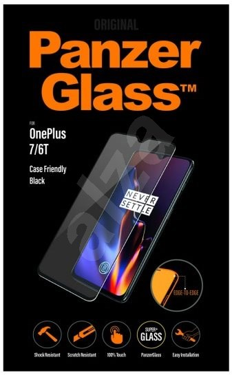 PanzerGlass Edge-to-Edge for OnePlus 7/6T Black - Glass protector