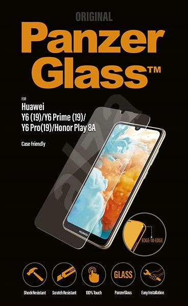 PanzerGlass Edge-to-Edge for Huawei Y6/Pro/Prime(19)/HonorPlay8A Clear - Glass protector