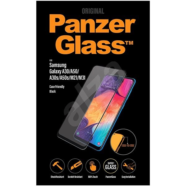 PanzerGlass Edge-to-Edge for Samsung Galaxy A30/A50/A30s/A50s/M21/M31 black - Glass protector