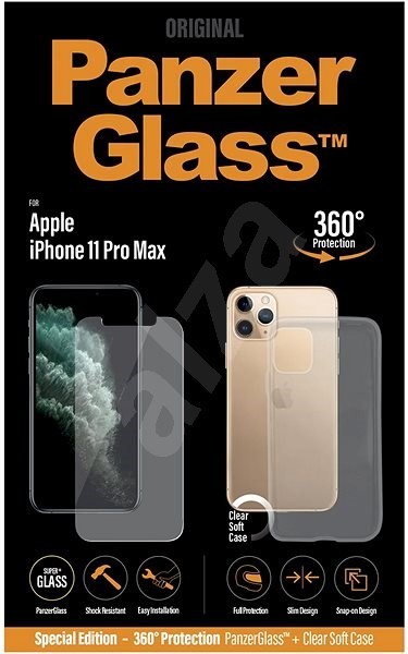 PanzerGlass Standard Bundle for Apple iPhone 11 Pro Max (Standard Fit + Clear TPU Case) - Glass protector