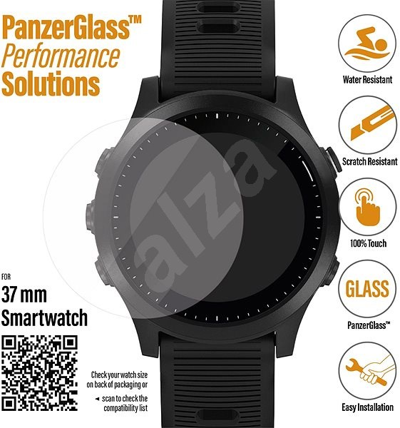 PanzerGlass SmartWatch for Different Types of Watches (37mm) Clear - Glass protector