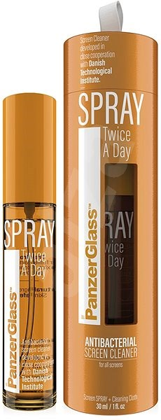 PanzerGlass Spray Twice a Day - Disinfectant Antibacterial Spray (30ml) - Cleaner