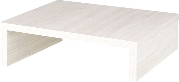 Platform under monitor, size 10 white nordic wood - Stand