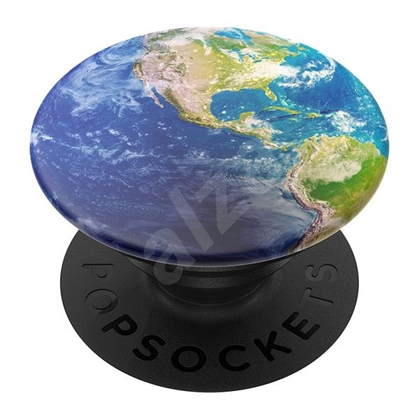 PopSockets PopGrip Gen.2, Put a Spin On It, Globe from Space - Mobile Phone Holder