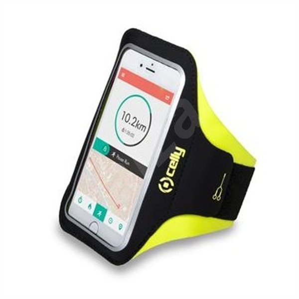"""CELLY ARMBAND for phones up to 6.2"""" yellow - Mobile Phone Case"""