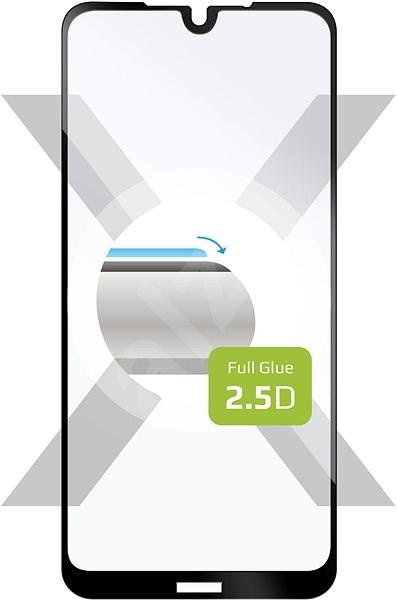 FIXED FullGlue-Cover for Nokia 4.2, black - Glass protector