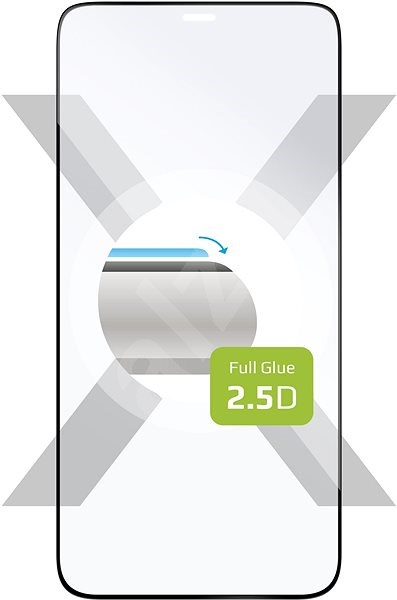 FIXED FullGlue-Cover for Apple iPhone 12/12 Pro, Black - Glass protector